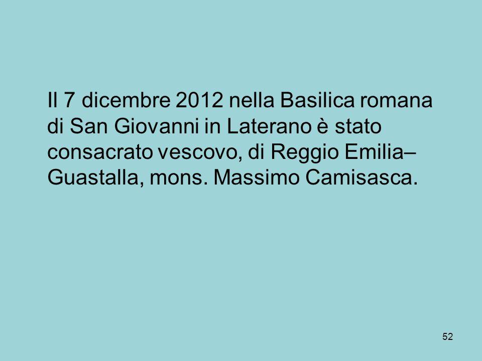 Il 7 dicembre 2012 nella Basilica romana di San Giovanni in Laterano è stato consacrato vescovo, di Reggio Emilia–Guastalla, mons.