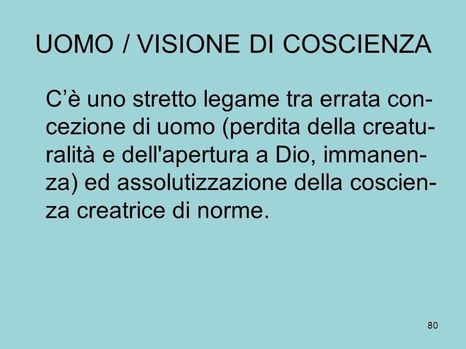 UOMO / VISIONE DI COSCIENZA