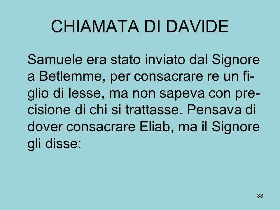 CHIAMATA DI DAVIDE