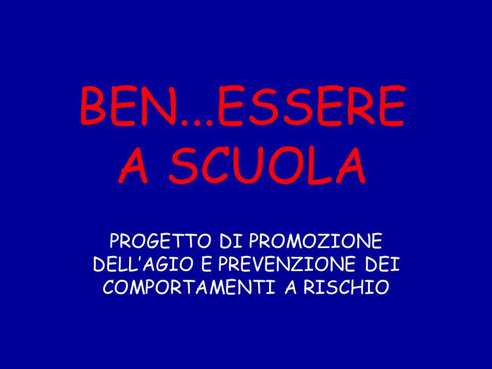 BEN...ESSERE A SCUOLA PROGETTO DI PROMOZIONE DELL'AGIO E PREVENZIONE DEI COMPORTAMENTI A RISCHIO