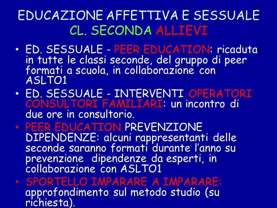 EDUCAZIONE AFFETTIVA E SESSUALE CL. SECONDA ALLIEVI