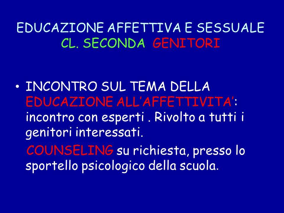 EDUCAZIONE AFFETTIVA E SESSUALE CL. SECONDA GENITORI