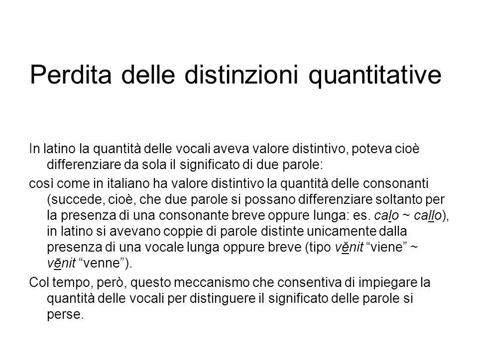 Perdita delle distinzioni quantitative