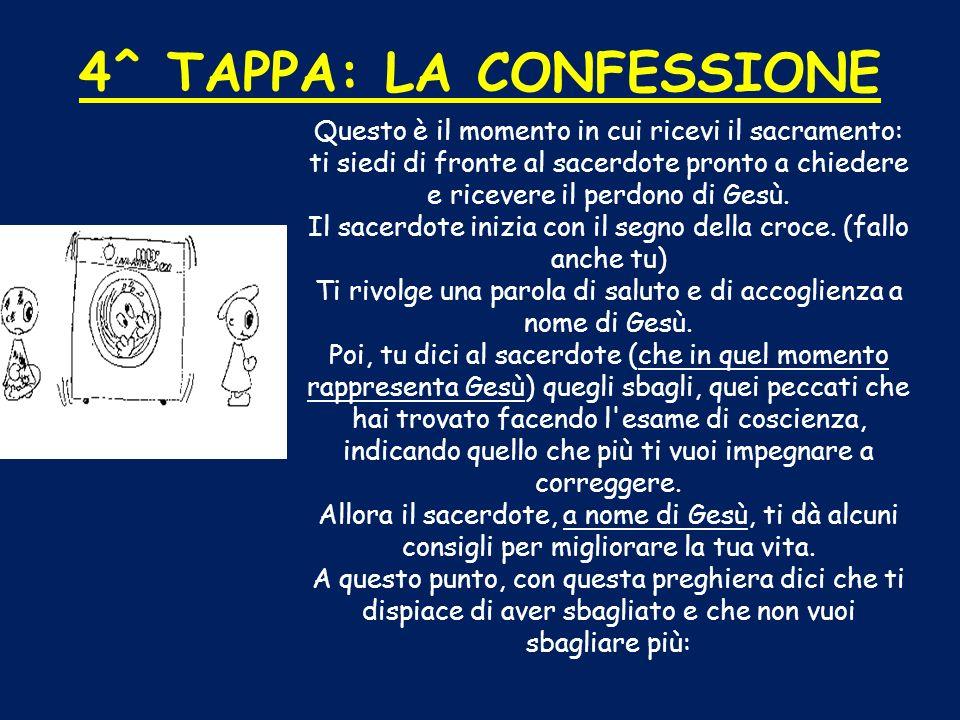 4^ TAPPA: LA CONFESSIONE