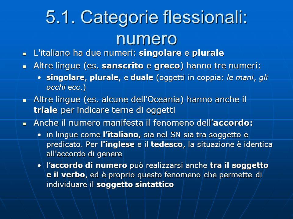 5.1. Categorie flessionali: numero