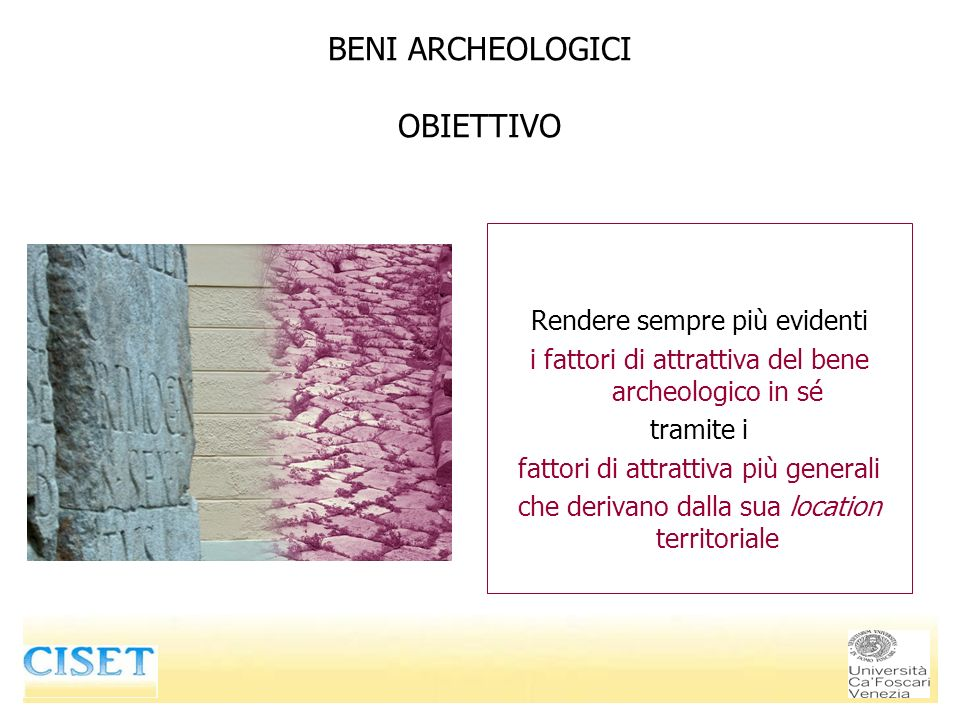 BENI ARCHEOLOGICI OBIETTIVO