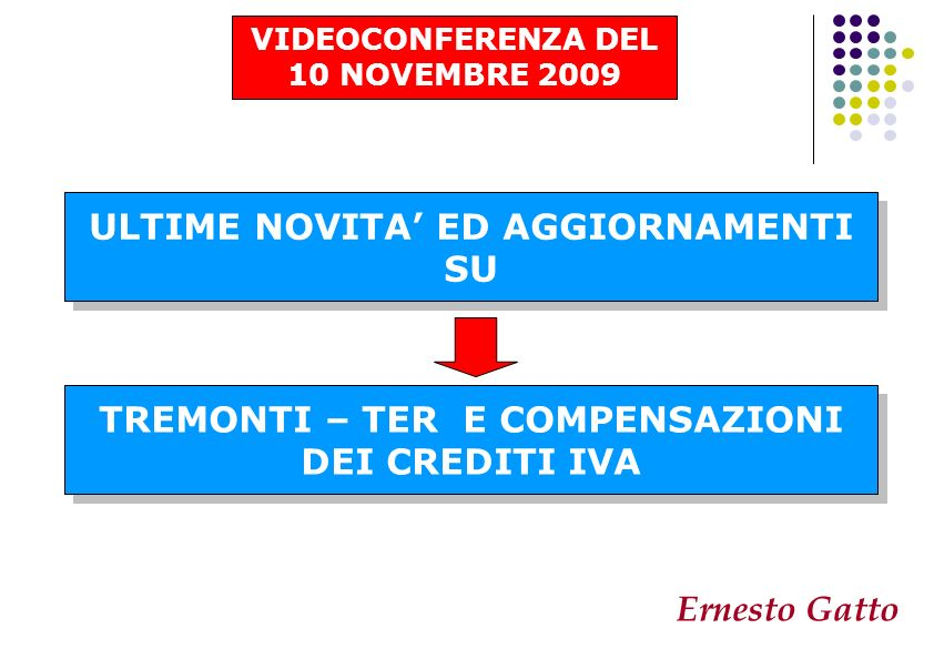 ULTIME NOVITA' ED AGGIORNAMENTI SU