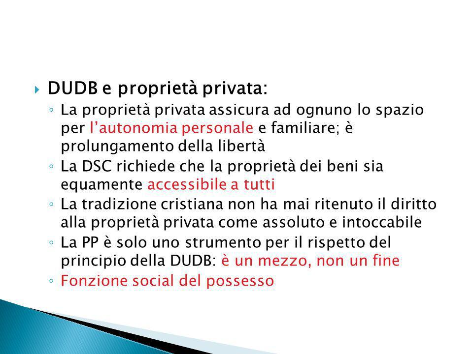 DUDB e proprietà privata: