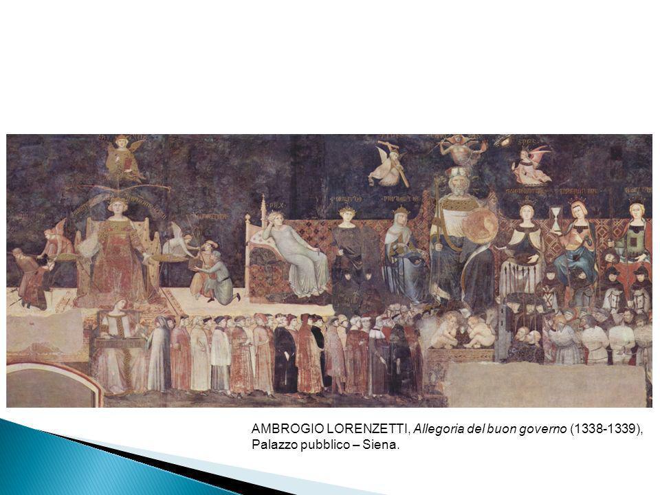 AMBROGIO LORENZETTI, Allegoria del buon governo (1338-1339),