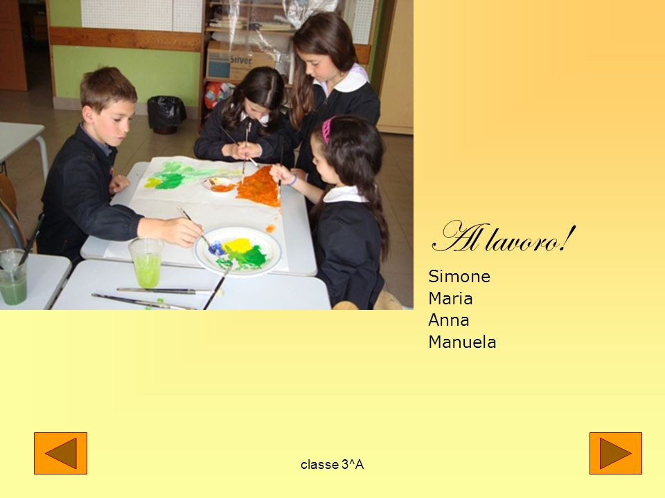 Al lavoro! Simone Maria Anna Manuela classe 3^A