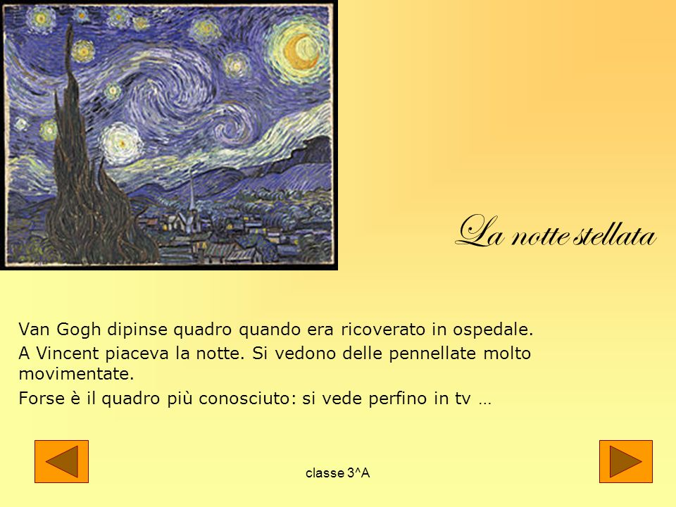 La notte stellata Van Gogh dipinse quadro quando era ricoverato in ospedale.