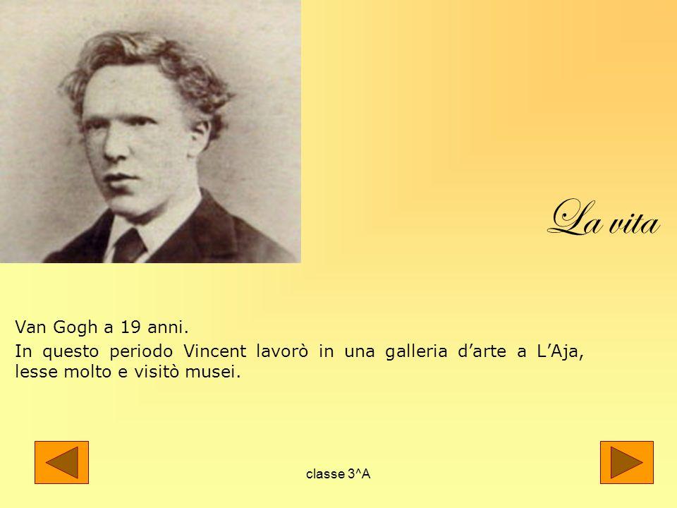 La vita Van Gogh a 19 anni. In questo periodo Vincent lavorò in una galleria d'arte a L'Aja, lesse molto e visitò musei.