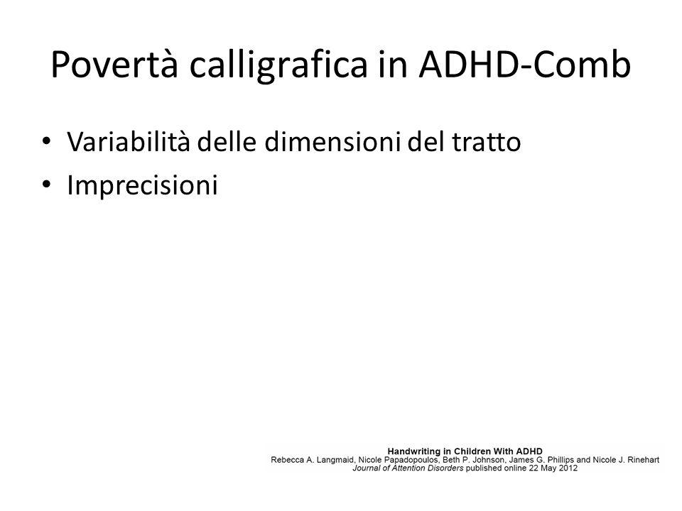 Povertà calligrafica in ADHD-Comb