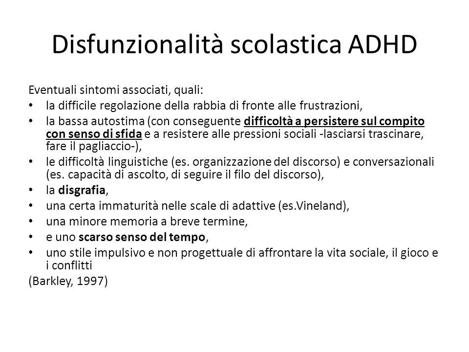 Disfunzionalità scolastica ADHD