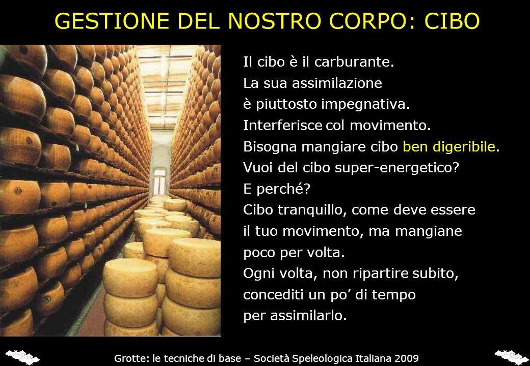 GESTIONE DEL NOSTRO CORPO: CIBO