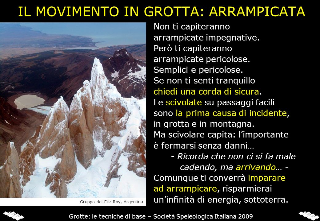 IL MOVIMENTO IN GROTTA: ARRAMPICATA