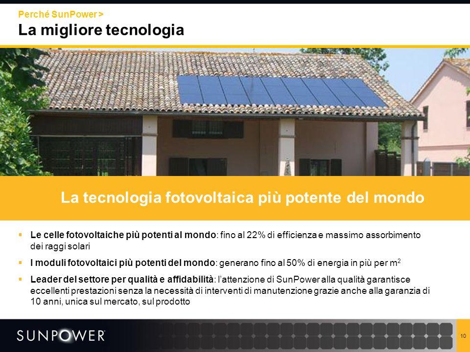 La tecnologia fotovoltaica più potente del mondo