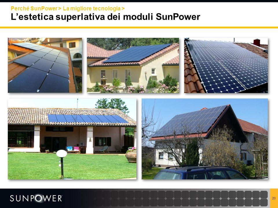 Perché SunPower > La migliore tecnologia > L'estetica superlativa dei moduli SunPower
