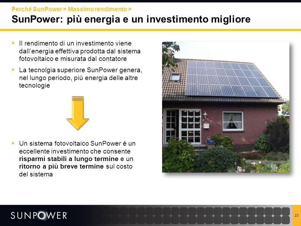 SunPower: più energia e un investimento migliore
