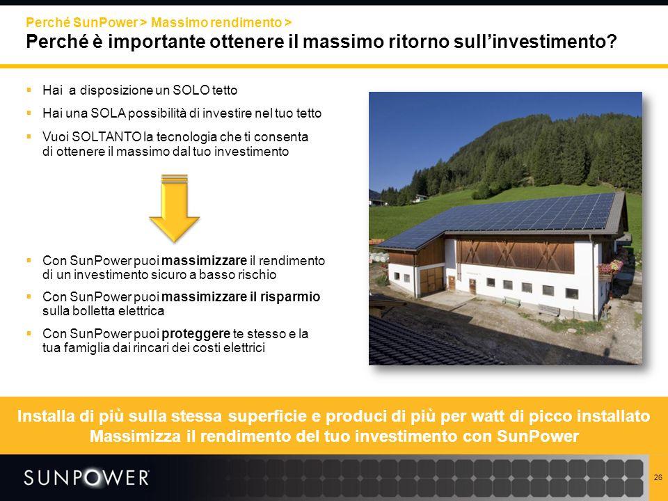 Massimizza il rendimento del tuo investimento con SunPower
