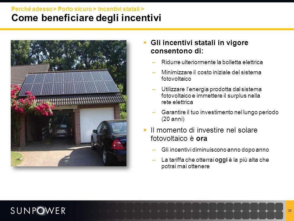 Gli incentivi statali in vigore consentono di: