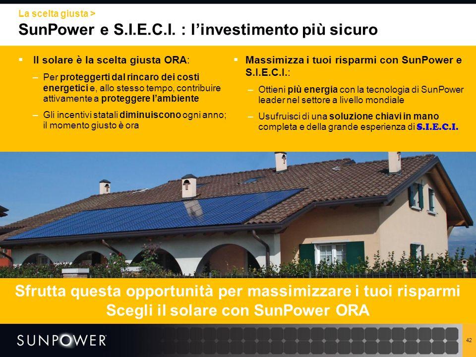 SunPower e S.I.E.C.I. : l'investimento più sicuro