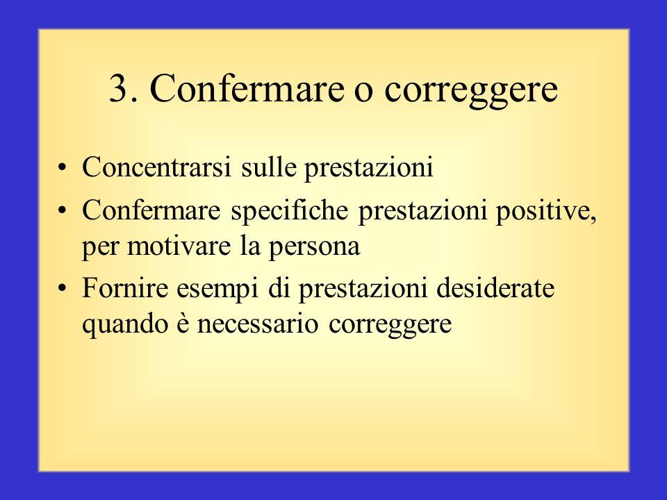 3. Confermare o correggere