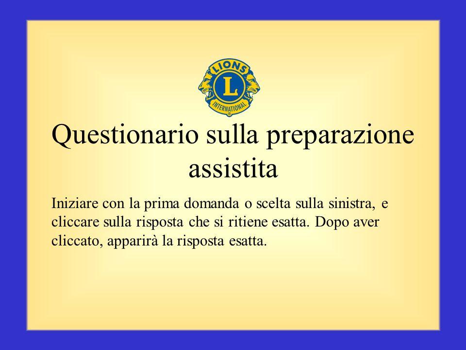 Questionario sulla preparazione assistita