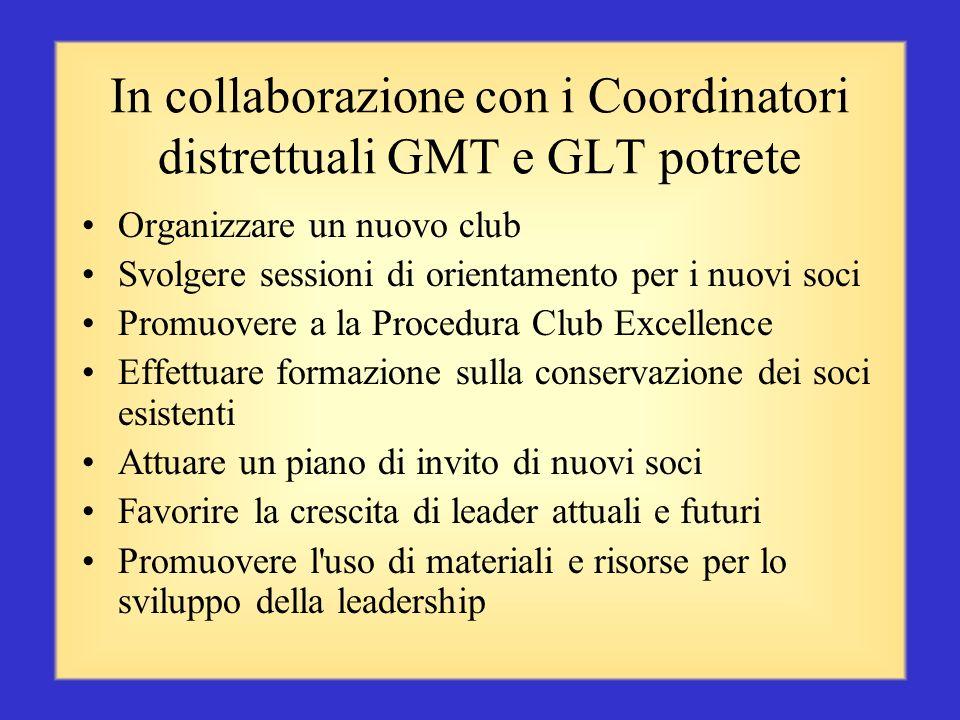 In collaborazione con i Coordinatori distrettuali GMT e GLT potrete