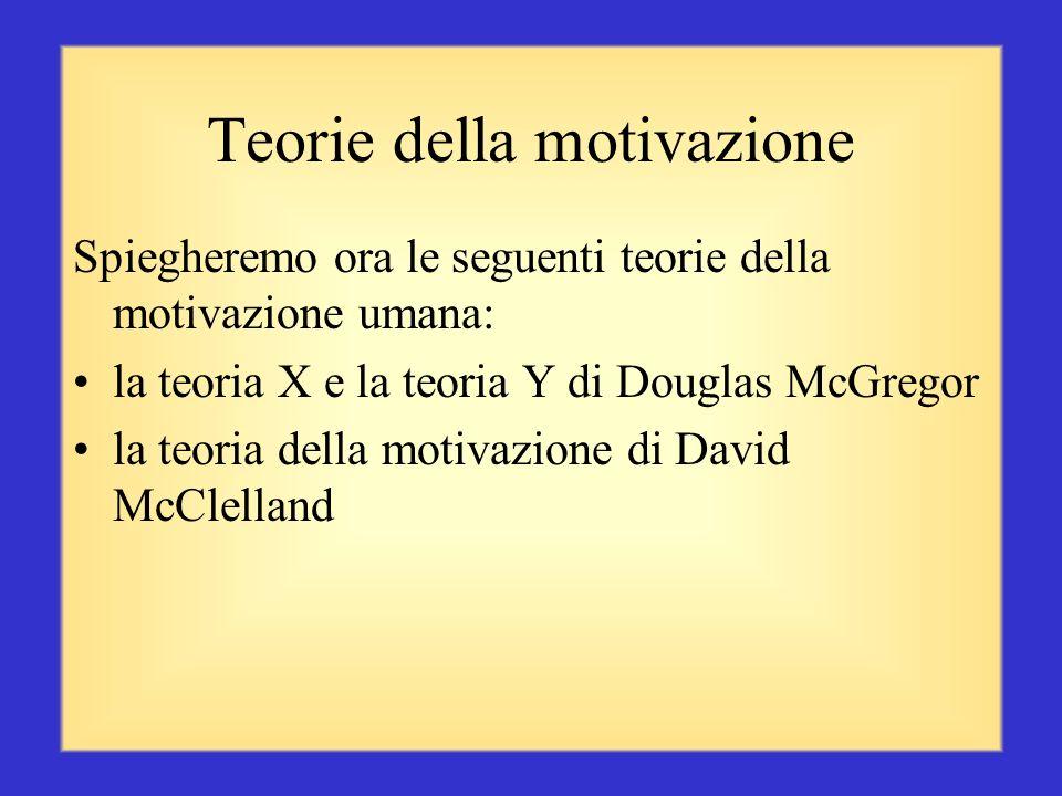 Teorie della motivazione