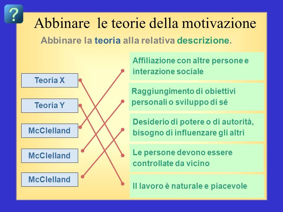 Abbinare le teorie della motivazione