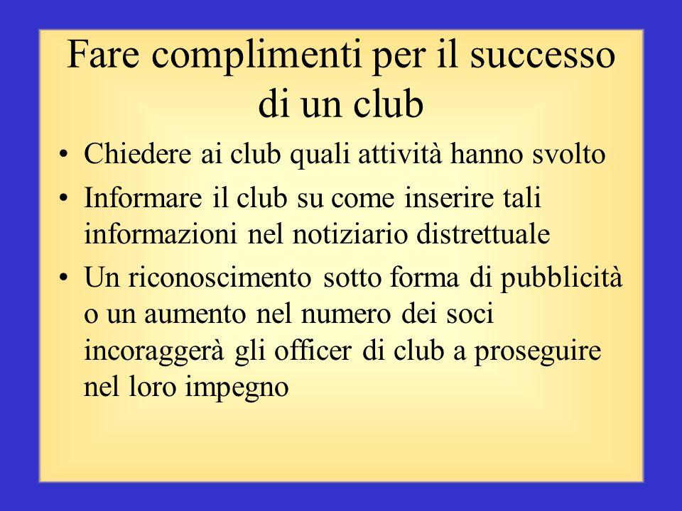 Fare complimenti per il successo di un club
