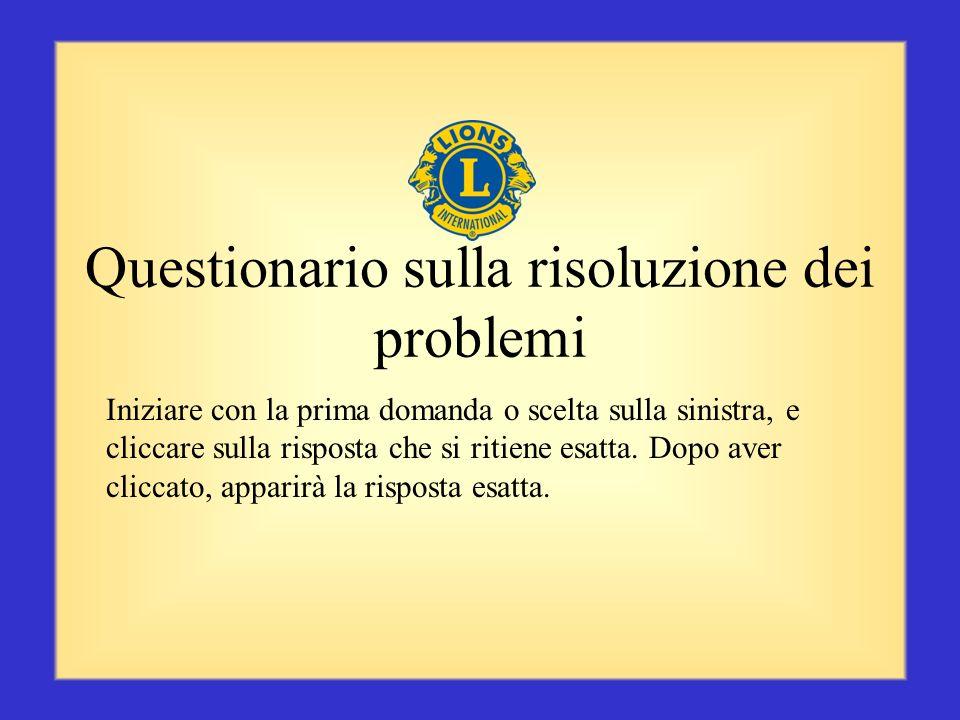 Questionario sulla risoluzione dei problemi