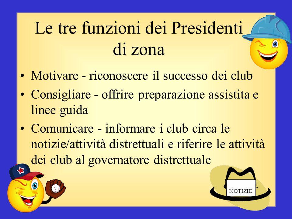 Le tre funzioni dei Presidenti di zona