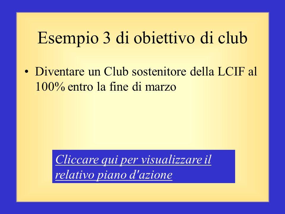 Esempio 3 di obiettivo di club