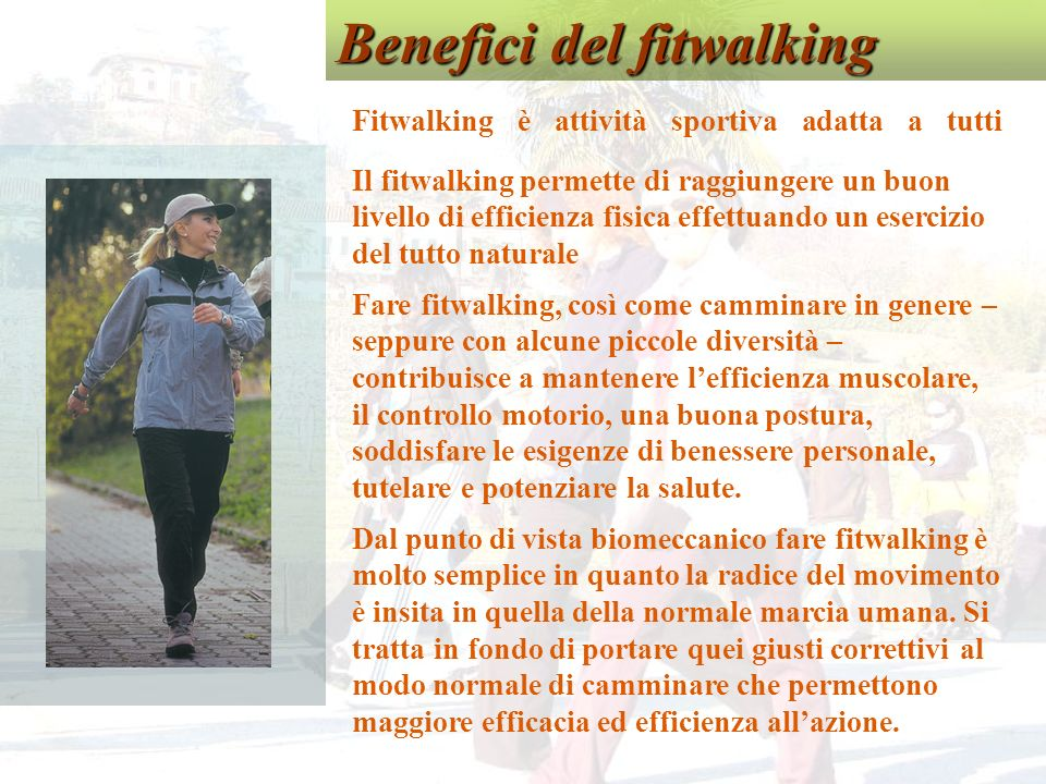 Benefici del fitwalking
