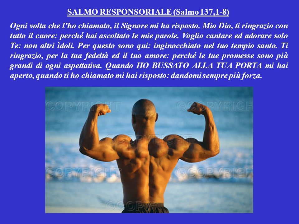 SALMO RESPONSORIALE (Salmo 137,1-8)