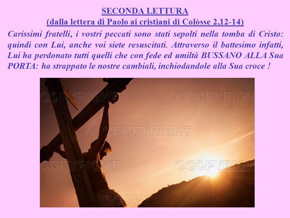 (dalla lettera di Paolo ai cristiani di Colòsse 2,12-14)