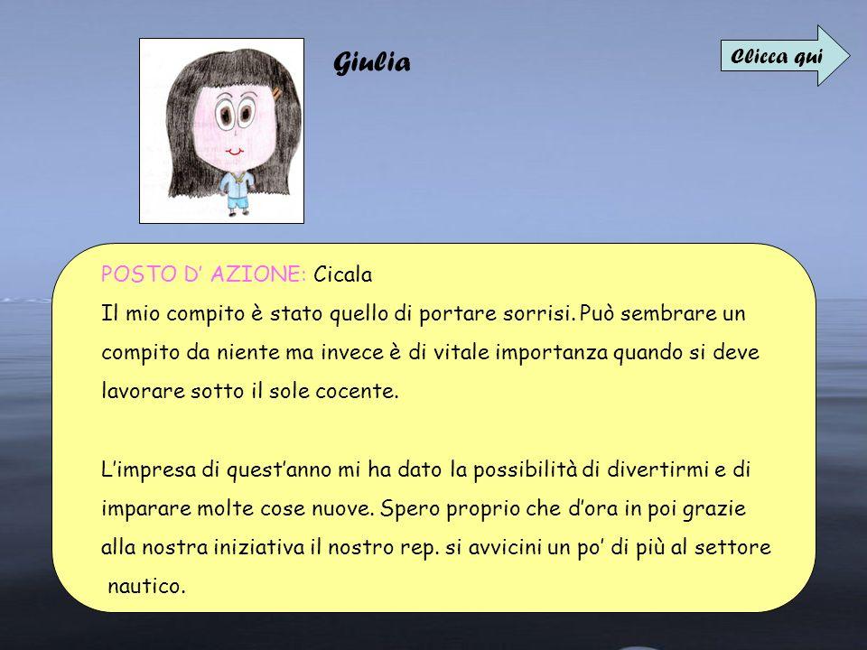 Giulia Clicca qui POSTO D' AZIONE: Cicala