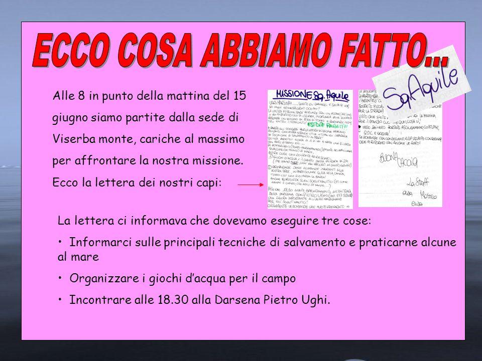 ECCO COSA ABBIAMO FATTO...