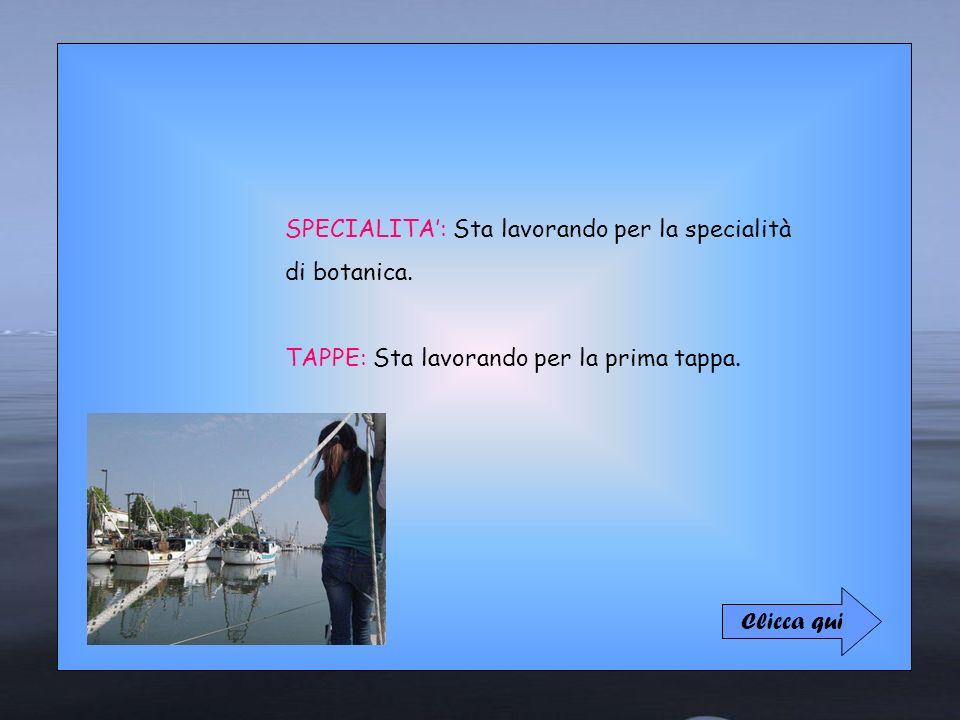 Lucilla Novizia SPECIALITA': Sta lavorando per la specialità
