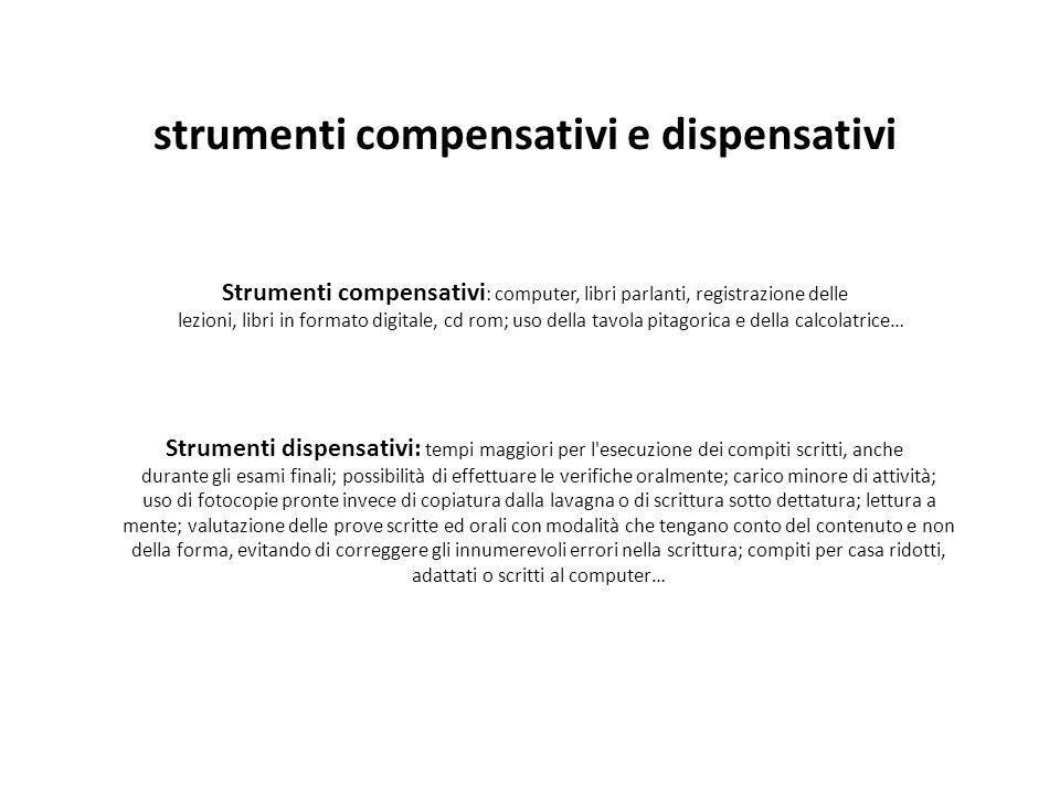 strumenti compensativi e dispensativi