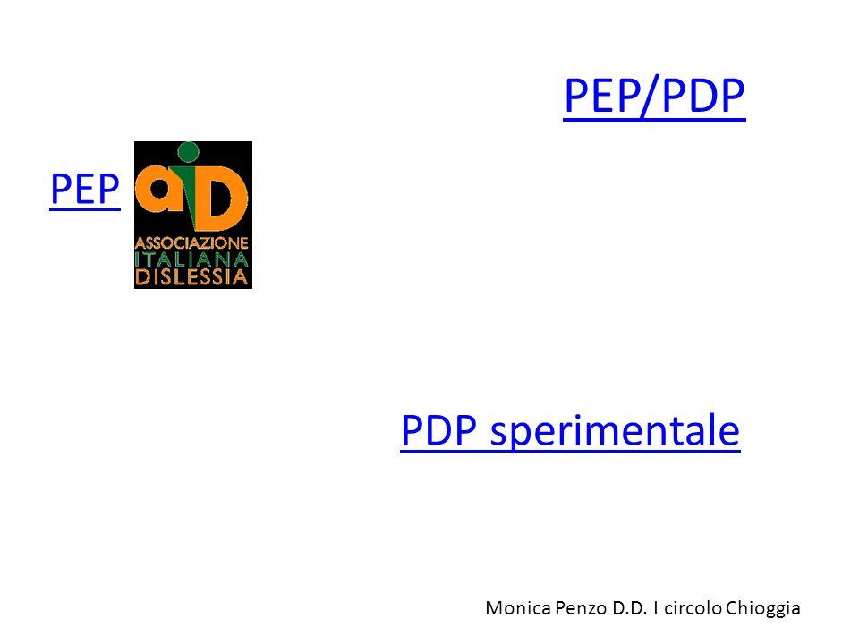 PEP/PDP PEP PDP sperimentale Monica Penzo D.D. I circolo Chioggia