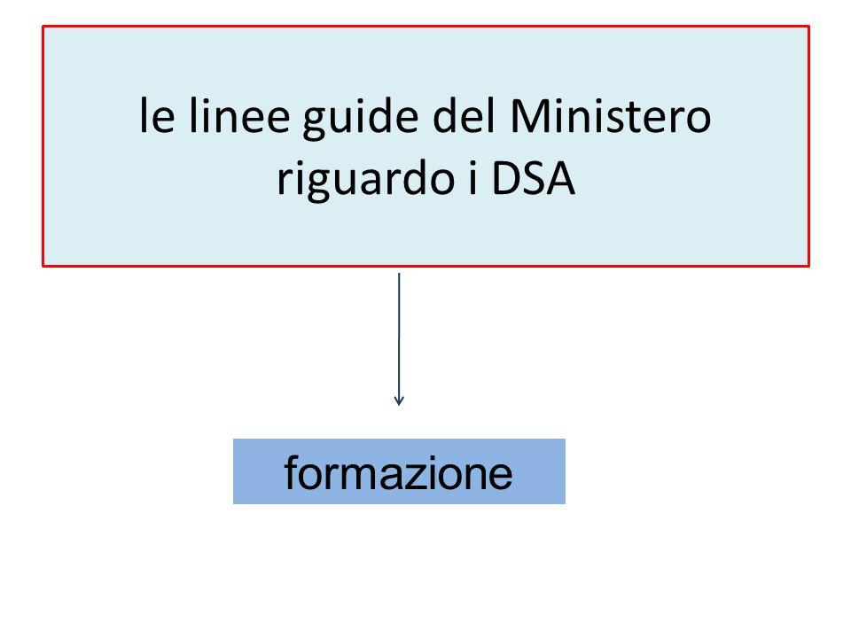 le linee guide del Ministero riguardo i DSA