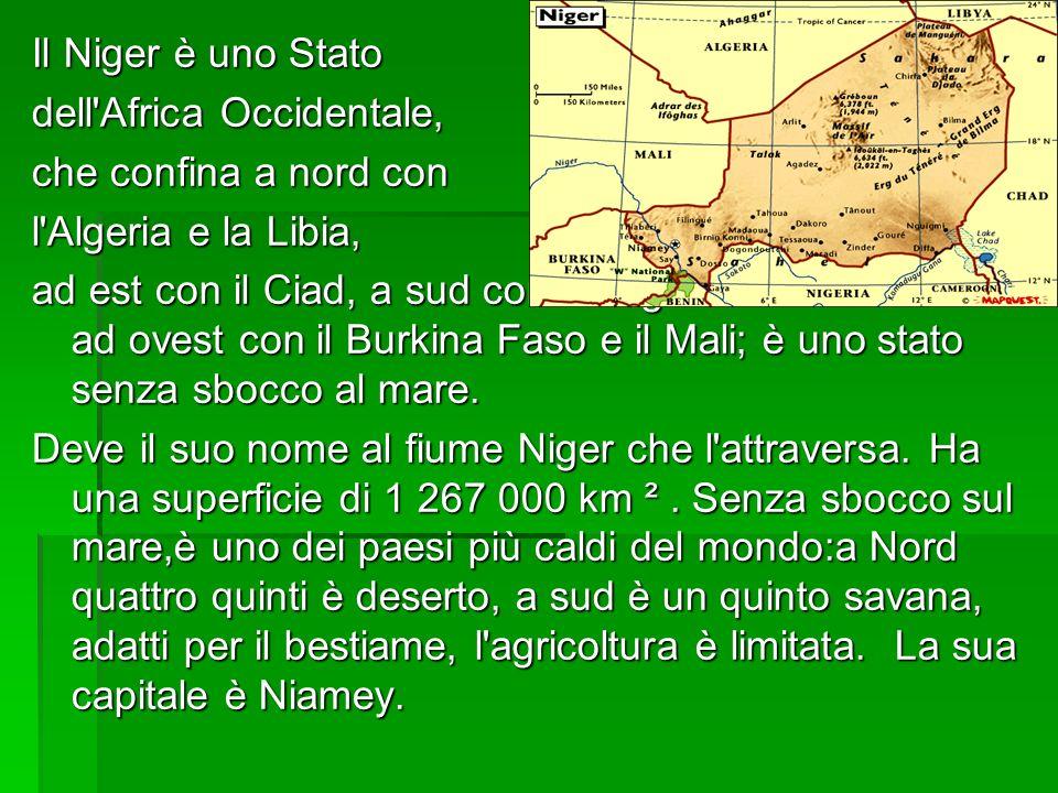 Il Niger è uno Stato dell Africa Occidentale, che confina a nord con. l Algeria e la Libia,