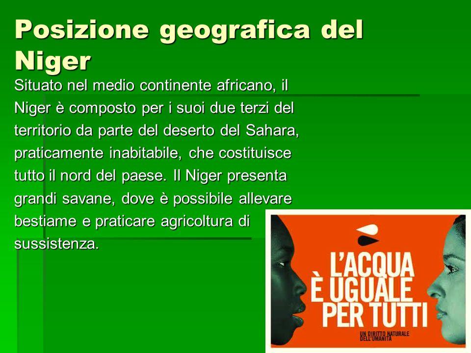 Posizione geografica del Niger