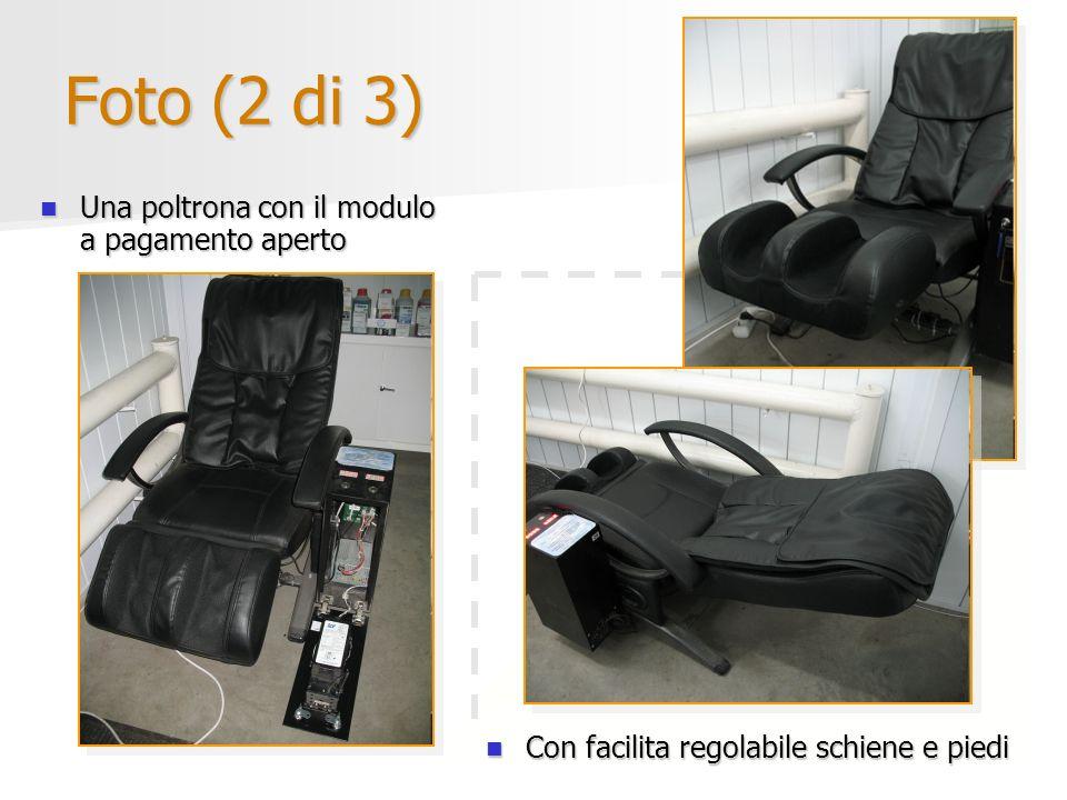 Foto (2 di 3) Una poltrona con il modulo a pagamento aperto