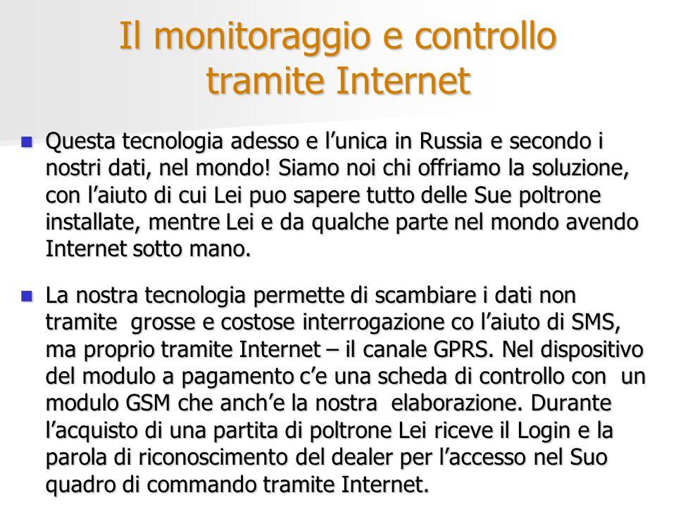 Il monitoraggio e controllo tramite Internet