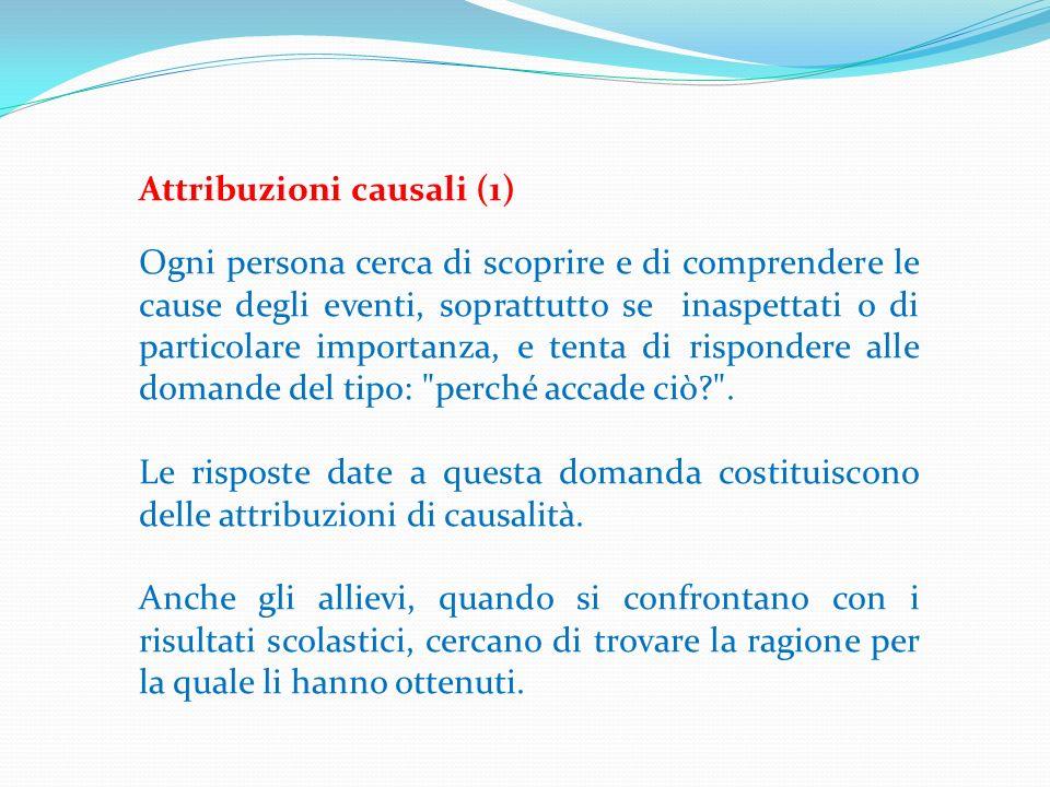 Attribuzioni causali (1)