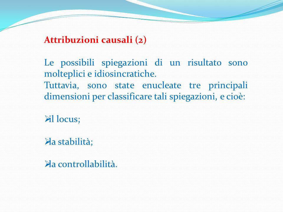 Attribuzioni causali (2)